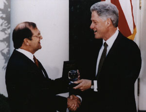 Bigler with President Clinton