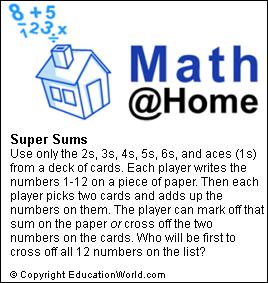 Education World: Math@Home