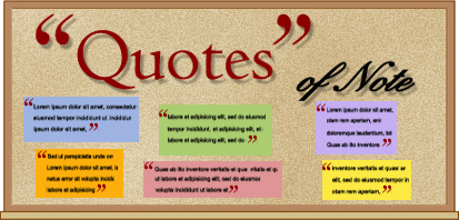 Bulletin Boards That Teach Quotes Of Note Education World
