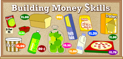 "money can be fun using this ""Building Money $kills"" bulletin board"