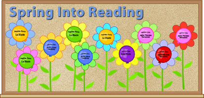 Use this fun colorful bulletin board to track students reading