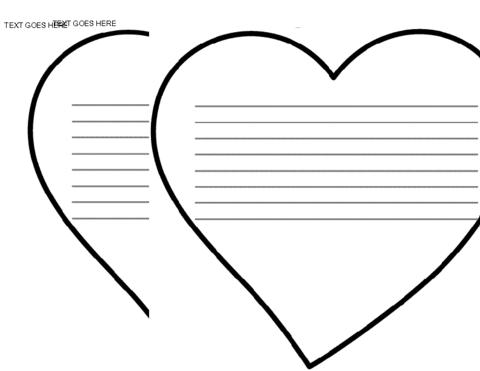 Click Here Bulletinboard November Heart Template Downloaddoc To Download The Document