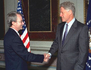 Baumgartner and President Clinton