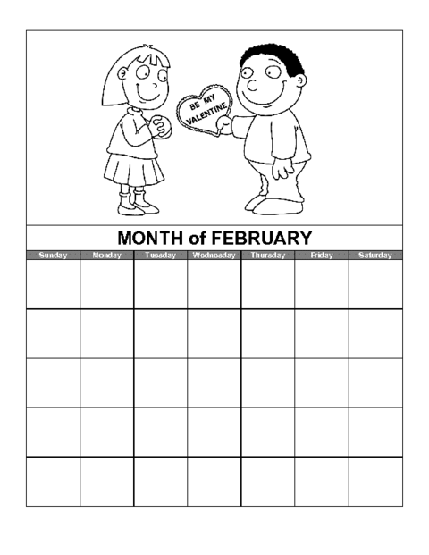 February Calendar Template Education World