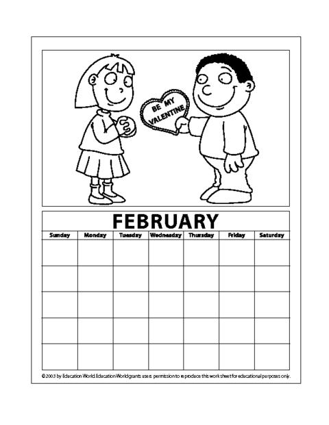 June Calendar Education World : February pdf education world