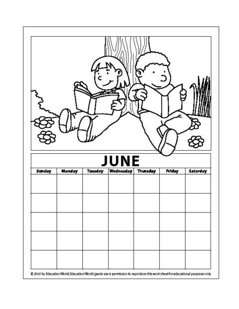 June Calendar Education World : June pdf education world