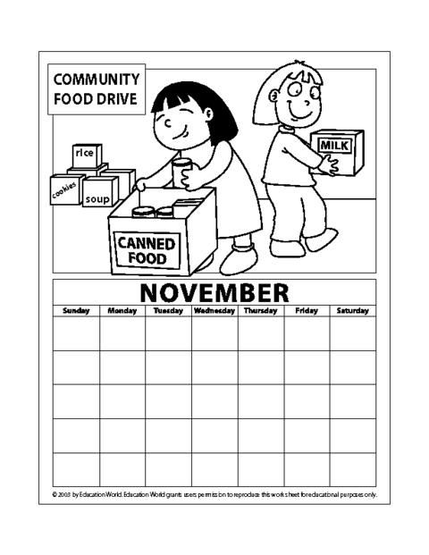 June Calendar Education World : November pdf education world