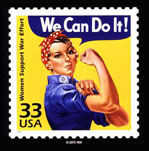 We Can Do It! Stamp
