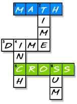 Math Cross Puzzle Graphic