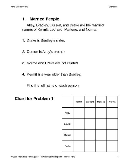 critical thinking worksheet appendix i