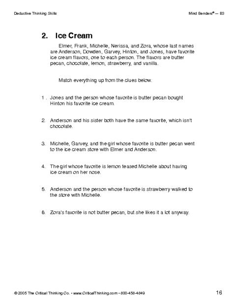 critical thinking teaching activities