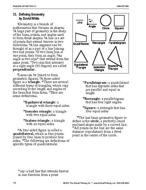 Critical Thinking Worksheet Grades 6-8: Math Vocabulary | Education ...