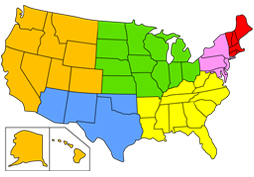 You and your mates will explore the six regions of the united states