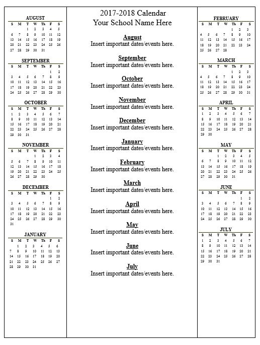 click here calendar 2017 2018doc to download the document