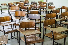 empty classroom with just desks