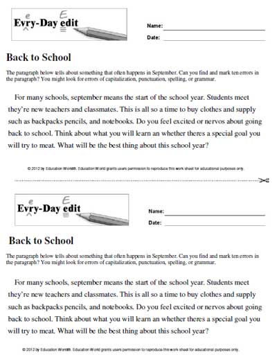 Click here EveryDay Edit back to school pdf to download the document