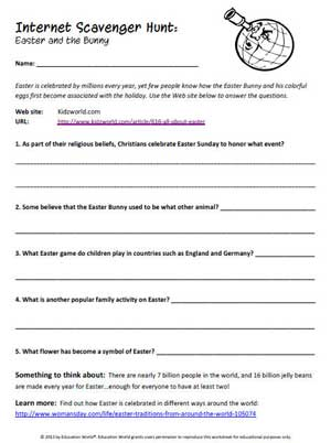 Worksheets Internet Scavenger Hunt Worksheet education world internet scavenger hunt easter and the bunny click here pdf to download document