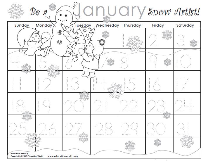 June Calendar Education World : January traceable calendar education world