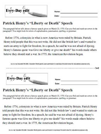 patrick henry rhetoric essay Objective: swbat evaluate the effectiveness of patrick henry's speech to the  virginia convention by creating clear objective summaries of text and identifying .