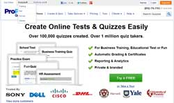 Tech in the classroom proprofs quiz maker education world proprofs provides all of the tools and templates required to create a test or quiz online by following the prompts through the proprofs web site ccuart Gallery