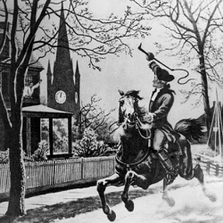 Paul Revere embarks on his midnight run
