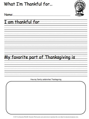 Click Here Thankful Worksheet 2013pdf To Download The Document