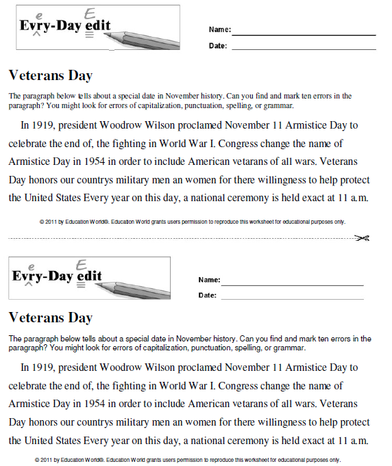 Click Here Everydayeditveterans Daypdf To Download The Document: Veterans Day Worksheets Elementary At Alzheimers-prions.com