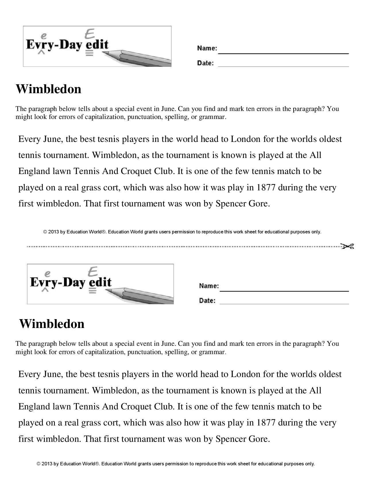 Wimbledon | Education World