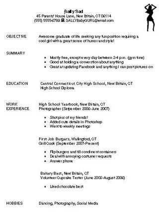 Sample Of Bad Resumes  Free Examples Of Resumes