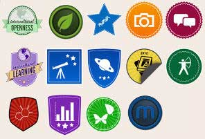 students earn digital badges