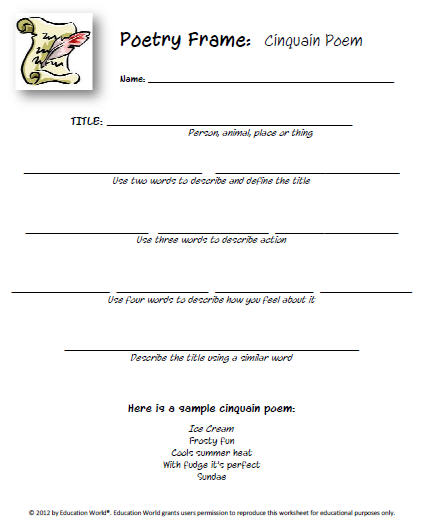 poetry templates for kids new templates poetry starters education world