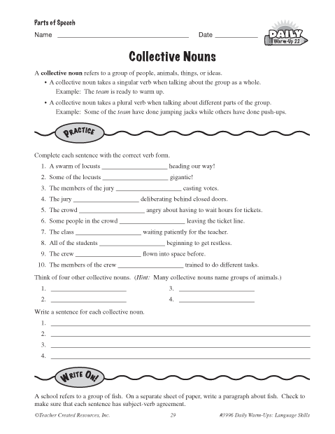 Printables Collective Nouns Worksheet collective nouns worksheet abitlikethis success