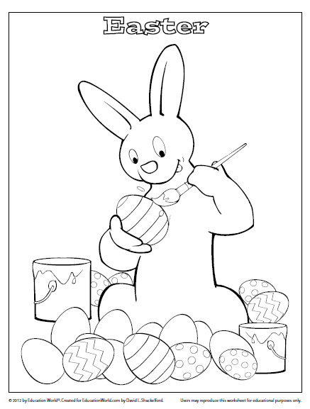 Coloring Sheet Template Happy Easter