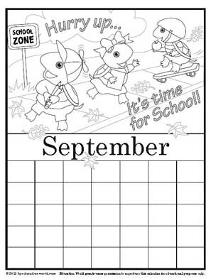 coloring calendar september version 2 education world