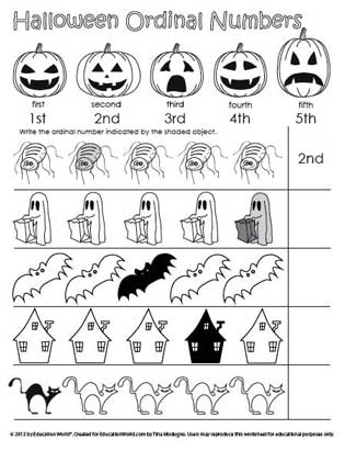 Halloween Ordinal Numbers | Education World