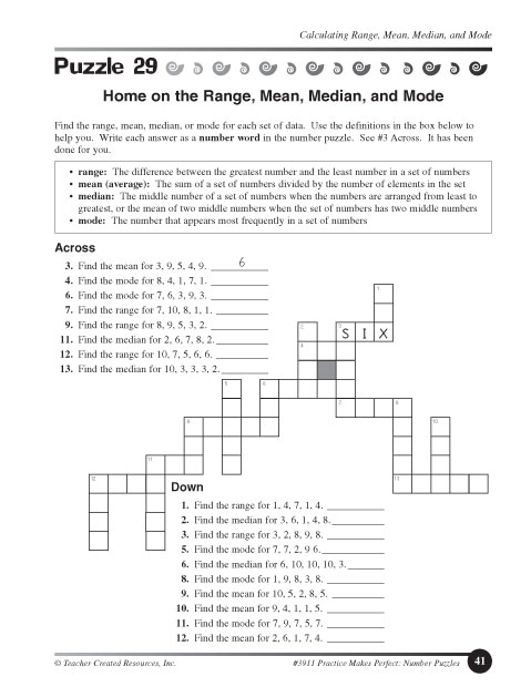 Worksheets Mean Median Mode Worksheets Pdf education world home on the range mean median and mode click here pdf to download document