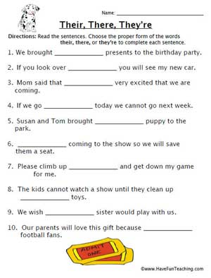 Printables Homophones Worksheet education world homophones worksheet their click here la3 5 pdf to download the document