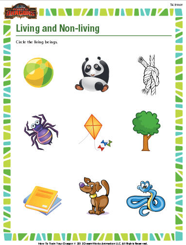 Living And Non Living Things Worksheet Education World