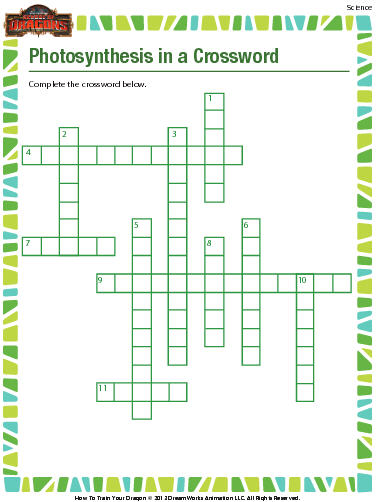 Life Science Crossword: Photosynthesis