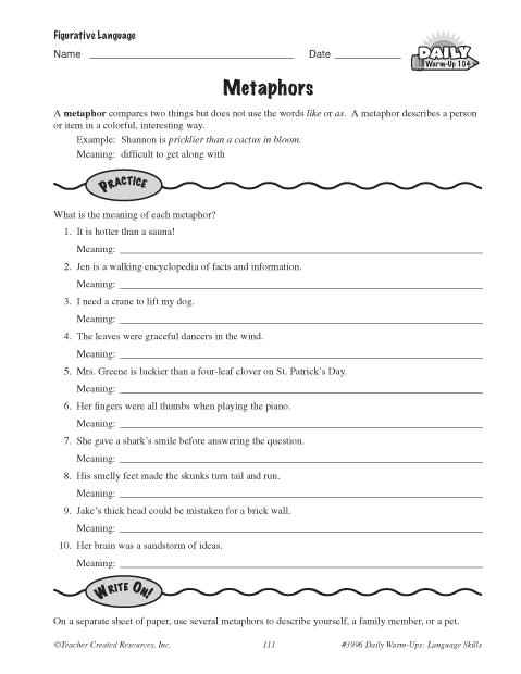 Metaphors Education World
