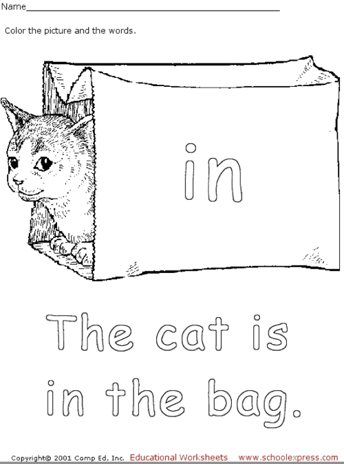 school express cat coloring worksheet