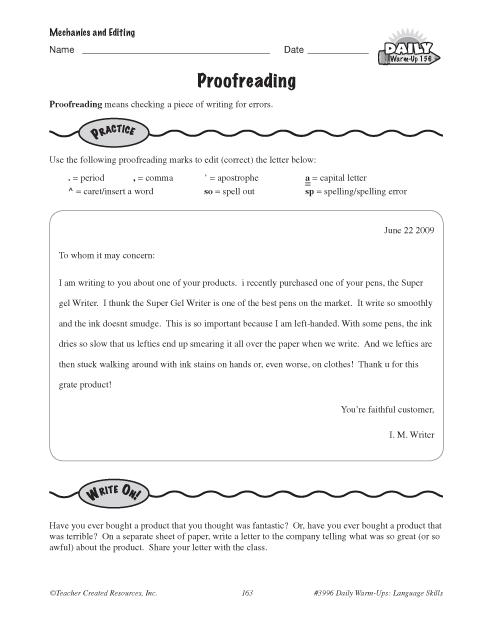 Proofreading | Education World
