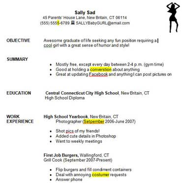 Education World Writing A Good Resume Student Exercise