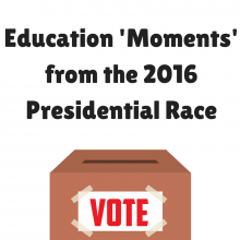 A Timeline of the Education 'Moments' from the 2016 Presidential Race