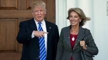 Betsy DeVos Can't Think of Any Education Issues the Federal Government Should Intervene With