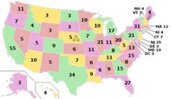 Education World Lesson The Electoral College - Us electoral map calculator
