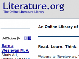 Site Review: Literature.org | Education World