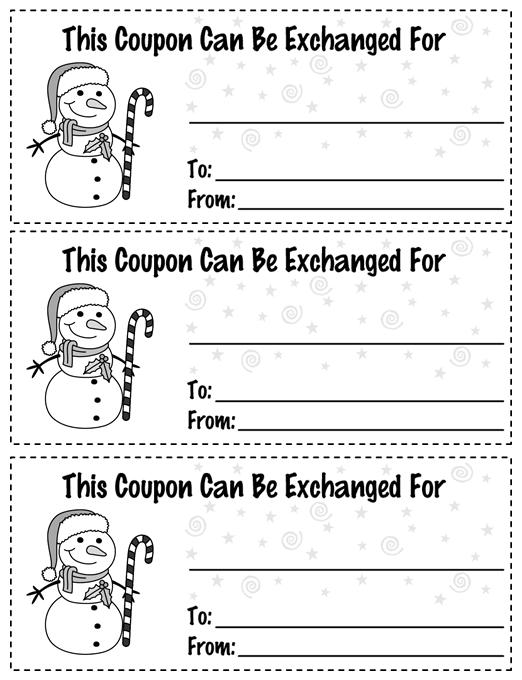 Christmas Coupon Version 1 Template | Education World