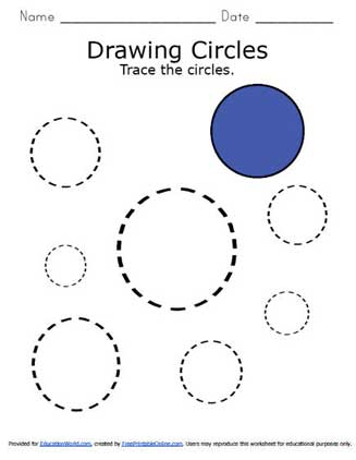 Tracing Circles | Education World