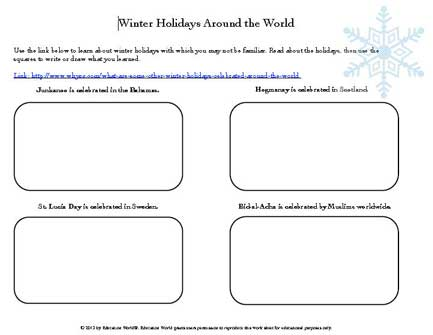 Education World Winter Holidays Around The World